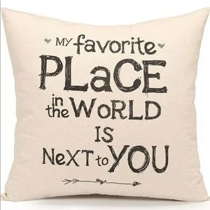 My Favorite Place In The World Pillow Cover